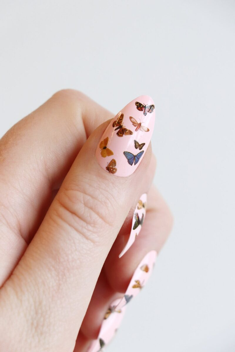 Butterfly Nail Tattoos Decals