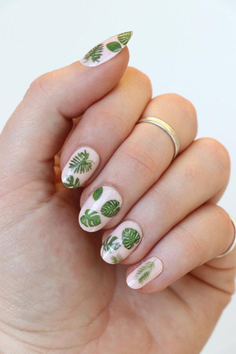 Leaf Nail Tattoos Decals
