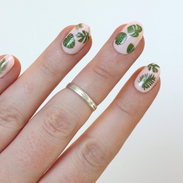 Leaf Nail Tattoos Decals