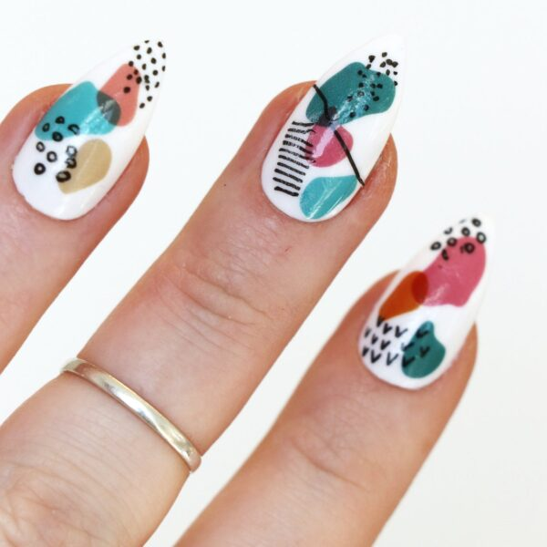 Modern Art Nail Tattoos Decals