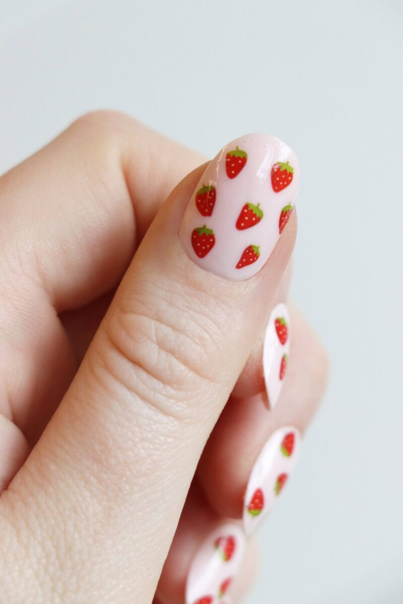 Strawberry Nail Tattoos Decals