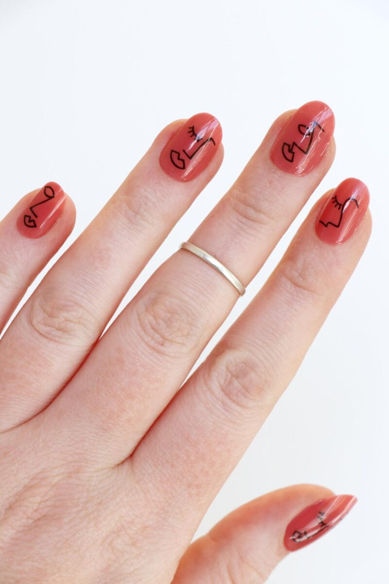 Faces Nail Tattoos Decals